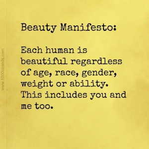 Beauty Manifesto || www.1000strands.com